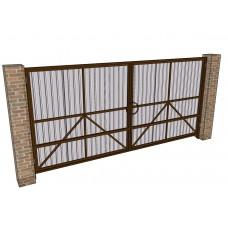 Распашные ворота Ширина 4 м. Высота 2 м. с обшивкой. Комплект в сборе