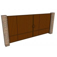 Распашные ворота Ширина 4 м. Высота 2 м.  обшивка с 2-х сторон. Комплект в сборе