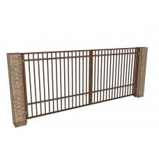 Распашные ворота Ширина 4 м. Высота 2 м. Решетчатые. Комплект в сборе