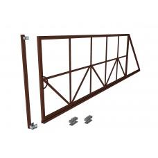 Откатные ворота Ширина 4 м. Высота 2 м. Комплект в сборе