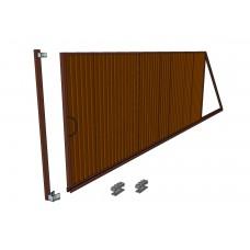 Откатные ворота Ширина 4 м. Высота 2 м. Комплект в сборе. Обшивка профнастилом с 2-сторон.